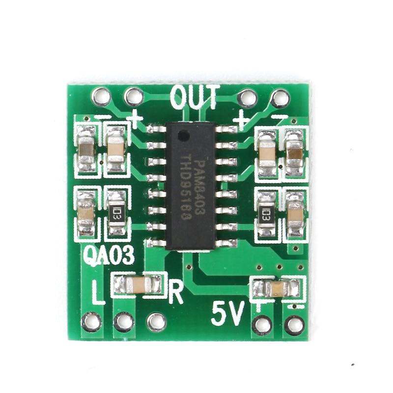 PAM8403 Audio 2x3W Mini Digital Power Amplifier Board for Class D Stereo Audio Amplifier Module 5V