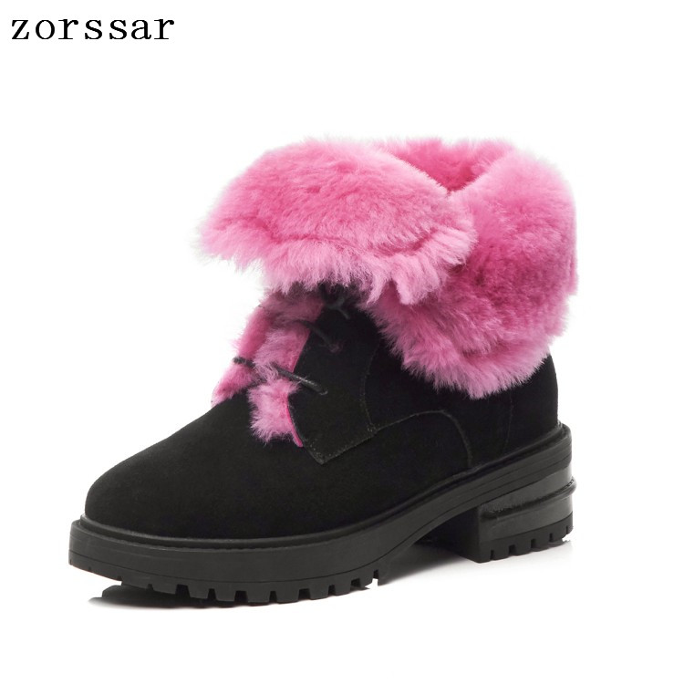 {Zorssar} Fashion warm snow boots 2018 new winter boots women ankle boots women flats shoes warm fur plush Insole shoes woman 2018 women snow white boots woman winter boots women fashion ankle boots warm fur women s shoes brand shoes zyw 996 2