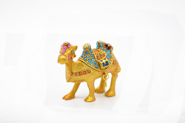 The best wedding gift decoration egypt gold animl trinket boxcamel the best wedding gift decoration egypt gold animl trinket boxcamel enamel decor junglespirit Images