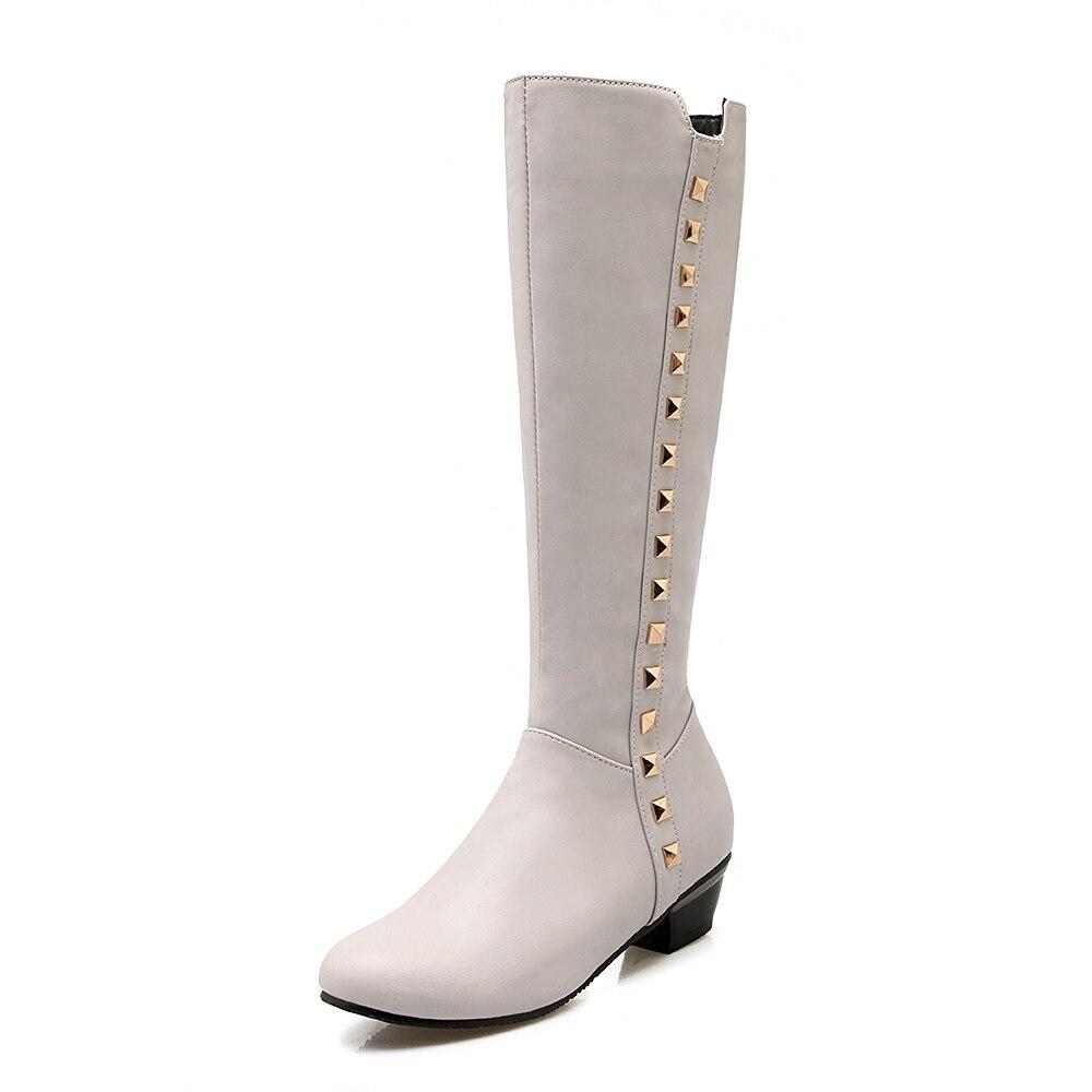 Tamaño Square Toe Ronda Zapatos 4 Mujeres Marrón 9132 Negro Rodilla Moda Mujer Tacones 9131 Botas Intención 15 Original Blanco 9133 9134 Gris Y0FxZX
