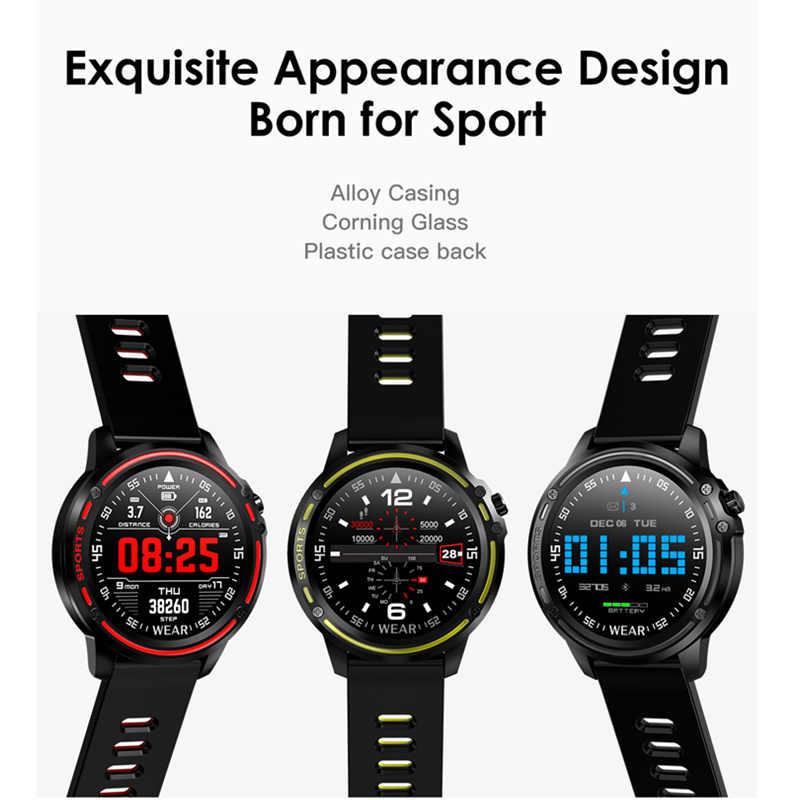 L8 กีฬาสมาร์ทนาฬิกาIP68 กันน้ำPedometer Heart RateความดันโลหิตECG PPG Monitorสมาร์ทนาฬิกาสำหรับชายVS L6 l5 P70 P68