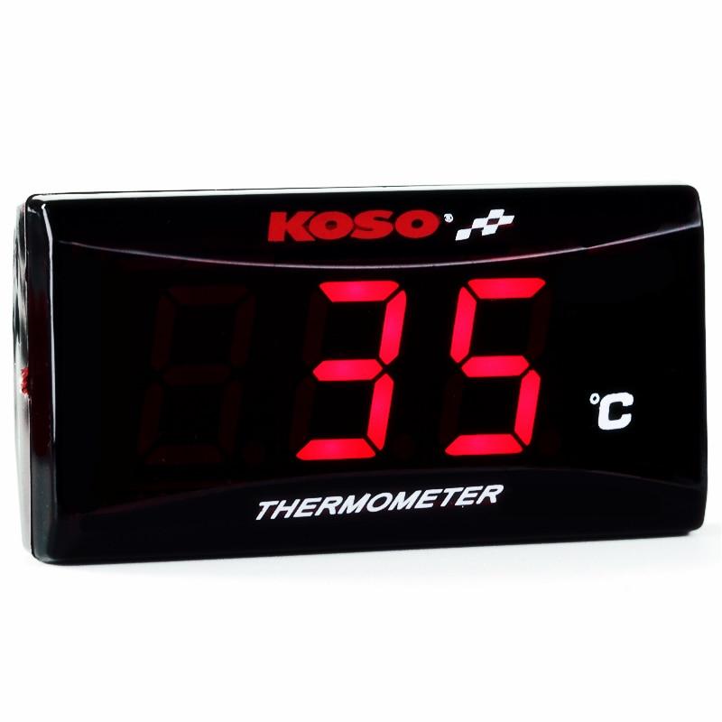 Motorcycle Thermometer KOSO quad square digital instrument humidity hygrometer Temperature meter sensor pyrometer Thermostat