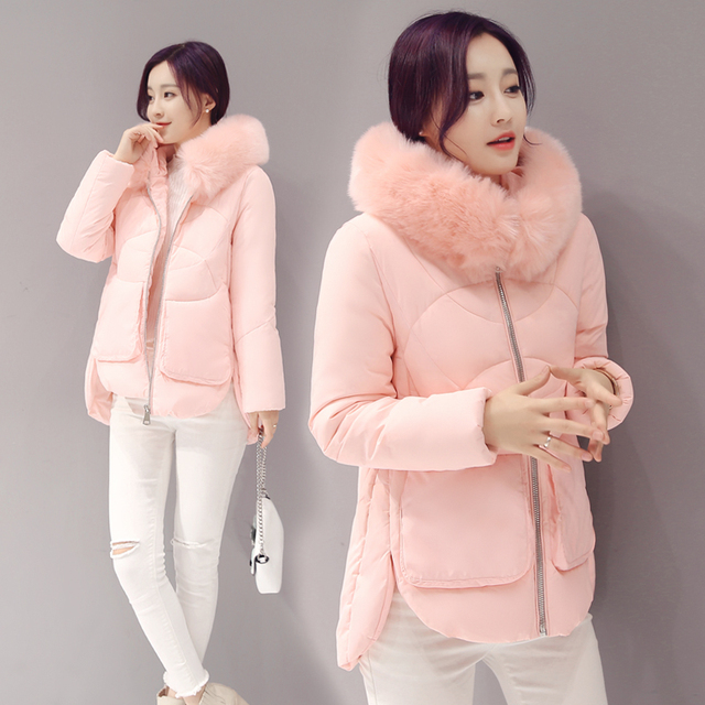 d9a931be2 Winter Jacket Thick Fur Collar Coat For Female Winter Warm Cotton Coat  Women Clothing Plus Size-in Parkas from Women's Clothing & Accessories