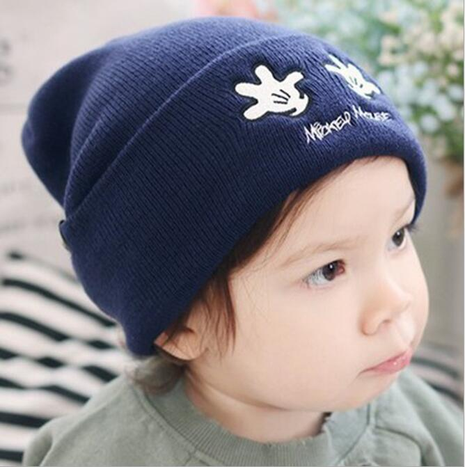 New children winter hats embroidery knitted hats Autumn Winter Warm Hats Boys girls Warm Beanies Hats Kids windmill cap 2017 new winter knitted hats children girl hats for children cap kids