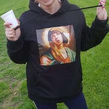 New hot sale Virgin Mary print ladies hoodie funny street men / autumn and winter casual sweatshirt pullover shirt