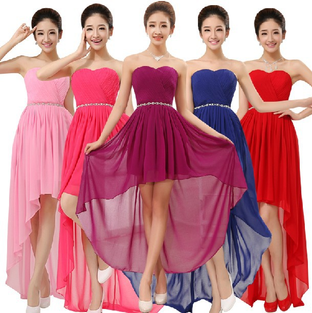 Aliexpress.com : Buy dark blue sweetheart short front long back ...