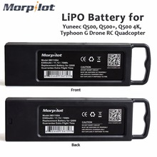 Morpilot 2pcs 11.1V 3S 6300mAh 4K 10C LiPO Battery for Yuneec Typhoon Q500 Q500 4K High Performance with Charging Protection