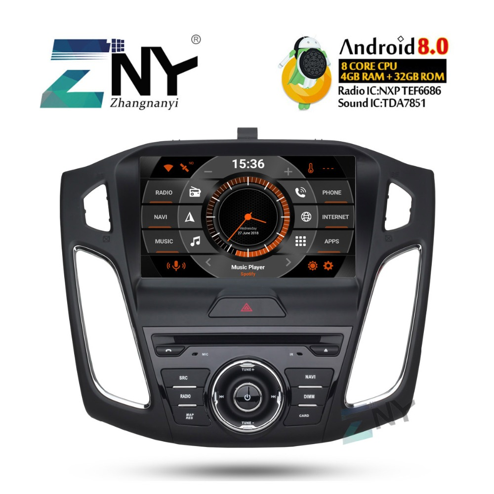 "9"" Android 9.0 Car GPS Stereo For 2015 2016 2017 Focus Auto Radio FM RDS DVD Video Headunit WiFi GPS Navigation Backup Camera"