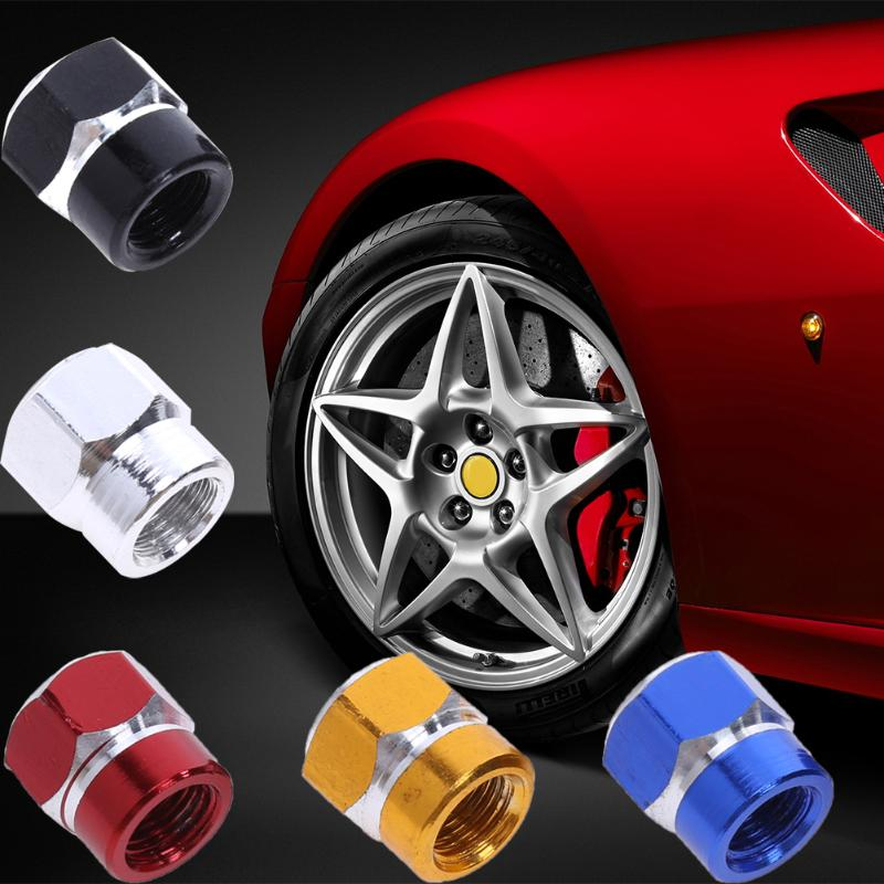 4 Pcs Universal Aluminum Auto Bicycle Car Tire Valve Caps Tyre Wheel Hexagonal Ventile Air Stems Cover Airtight Rims Accessories sc32 800 free shipping standard air cylinders valve 32mm bore 800mm stroke sc32 800 single rod double acting pneumatic cylinder