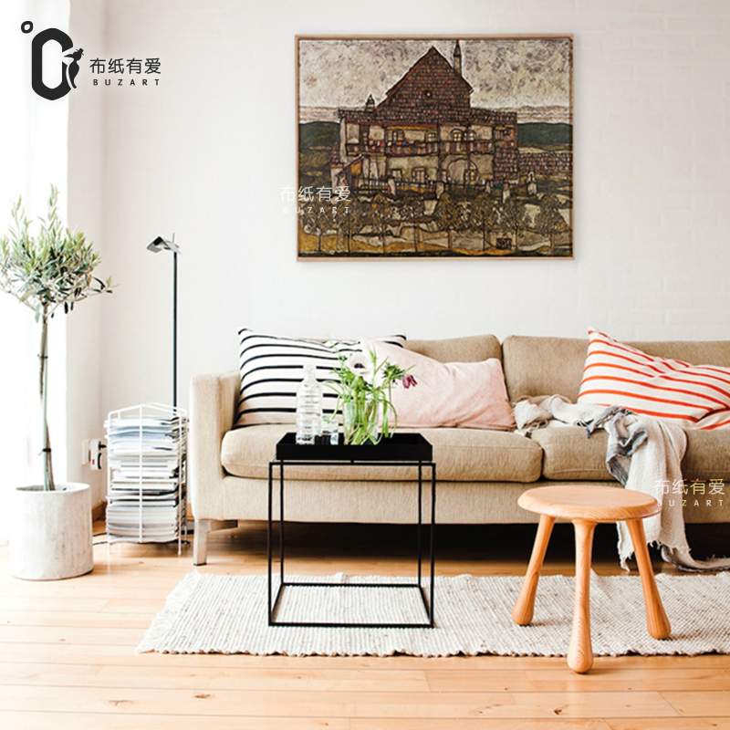 Old Village House Landscape Painting Interior Decoration Paintings On Canvas  Wall Painting Living Room No Frame In Painting U0026 Calligraphy From Home U0026  Garden ...