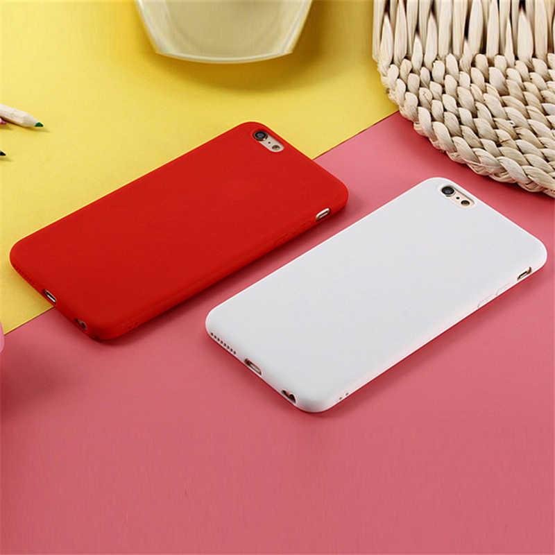 Матовые Силиконовые чехлы ярких цветов из ТПУ для Xiaomi mi A2 Lite A1 A2 5x6X8 9 SE, чехол для Red mi 6 Pro 4A 4X Note 4X4 5 5A Prime