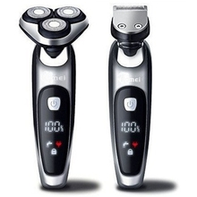 רטוב יבש חשמלי מכונת גילוח פנים גילוח לגברים זכר זקן גילוח מכונת רוטרי ראש usb נטענת 2in1 טיפוח קיט