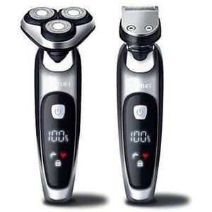 Image 1 - Islak kuru elektrikli tıraş makinesi yüz elektrikli erkekler jileti erkek sakal tıraş makinesi döner kafa usb şarj edilebilir 2in1 tımar kiti