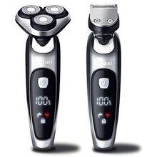 Nat droog elektrisch scheerapparaat facial scheerapparaat voor mannen mannelijke baard scheren machine rotary hoofd usb oplaadbare 2in1 grooming kit