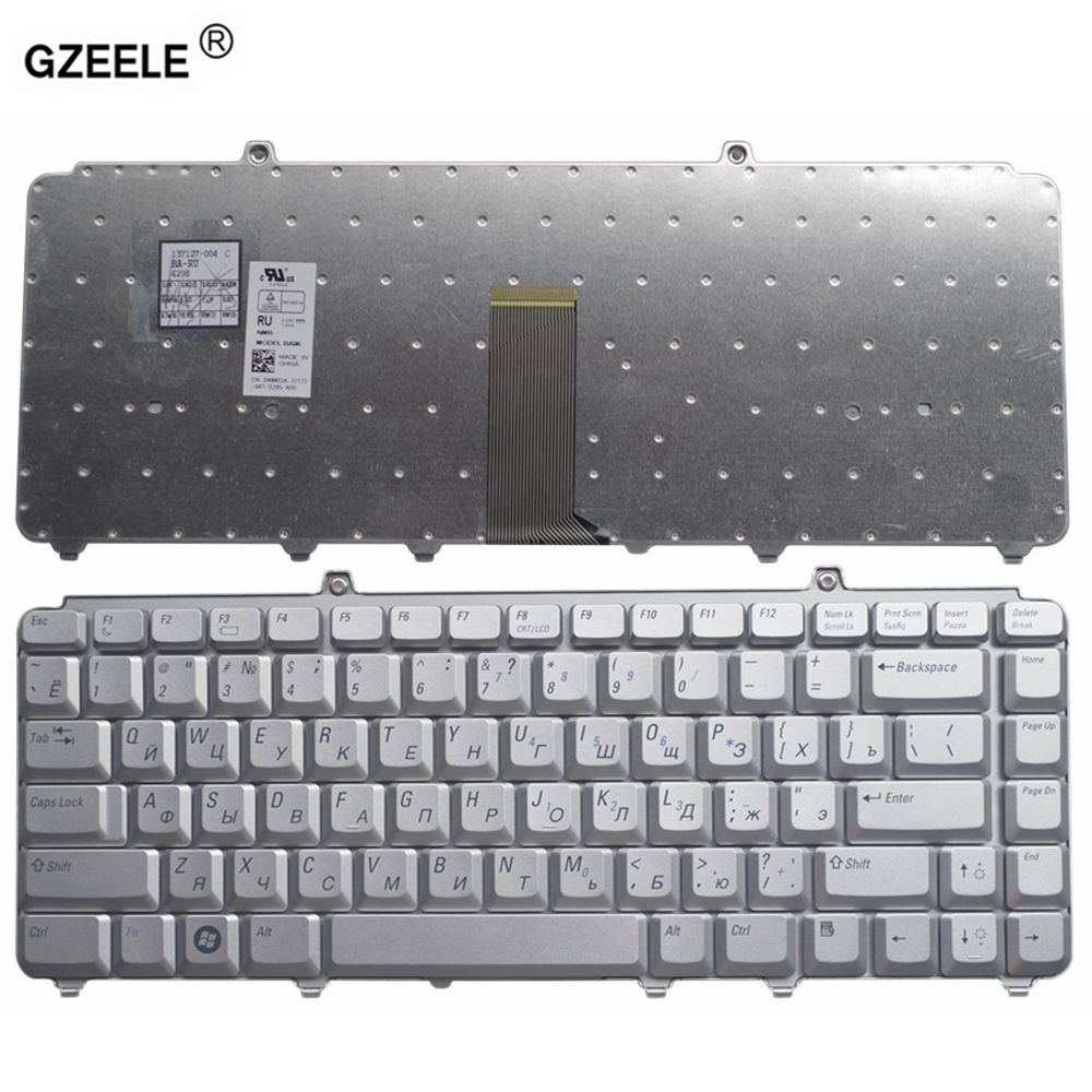GZEELE Laptop Keyboard for Dell 1400 PP22L 1318 1545 PP29L 1520 1525 PP26L 1521 1526 500 PP14L PP41L M1530 RU RUSSIAN silver NEW