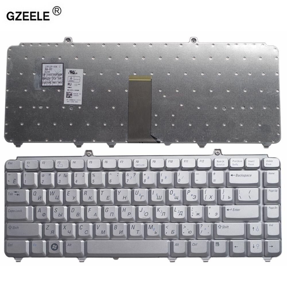 GZEELE Laptop Tastatur für Dell 1400 PP22L 1318 1545 PP29L 1520 1525 PP26L 1521 1526 500 PP14L PP41L M1530 RU RUSSISCHE silber NEUE
