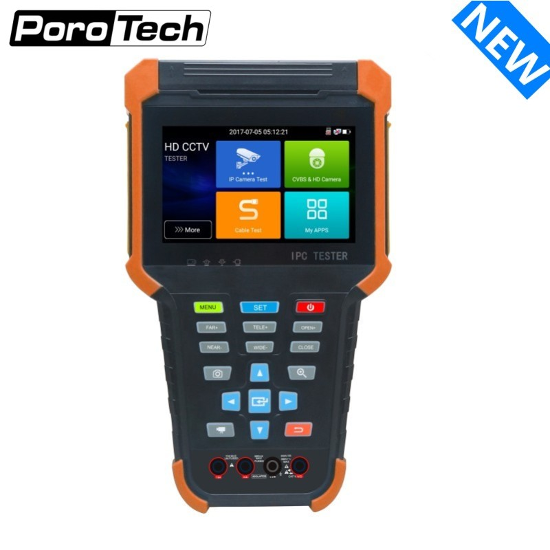 DHLFree H.265 4K IP CCTV Camera Tester X4 8MP TVI CVI 5MP AHD SDI CVBS Security Camera Tester Monitor With Cable Tracer,Wifi,POE