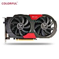 Красочные GTX1050Ti Графика Card 4 ГБ 128bit GDDR5 HDMI DVI DP 768 cudr Core 7000 мГц Поддержка 7680*4320 игровой видеокарты