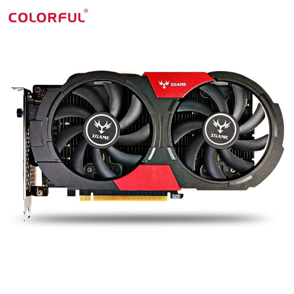 Colorful GTX1050Ti Graphics Card 4GB 128bit GDDR5 HDMI DP DVI 768 CUDR Core 7000MHz Support 7680*4320 Gaming Video Card