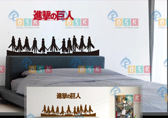 DCTAL Japanese Cartoon Fans Attack on Titan Vinyl Wall Stickers Decal Decor Home Decorative Decoration 134
