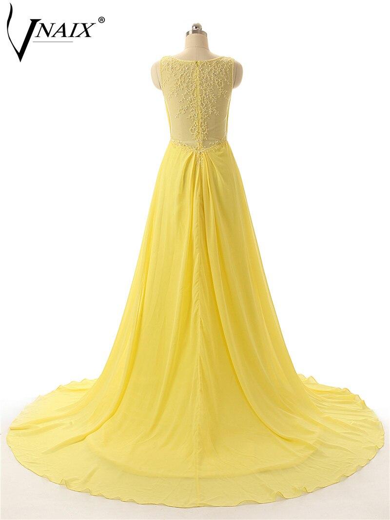 P1144 реальный простой платье V шеи с Pleat и бисером видеть сквозь задолго шифон