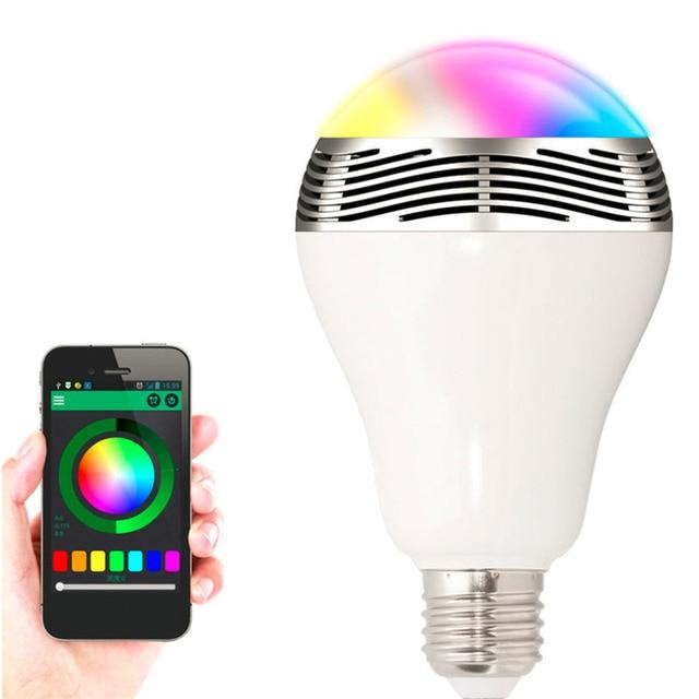 APP Remote Control LED Bulb Night Light Baby Bluetooth Smart LED Bulb  Intelligent Colorful Flashing Round