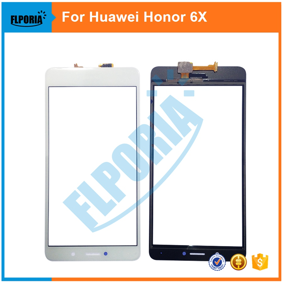 US $21 61 7% OFF|5PCS New For Huawei Honor 6X Touch Screen Panel Front  Glass Touch Screen Panel Digitizer Replacement Lens-in Phone Screen  Protectors