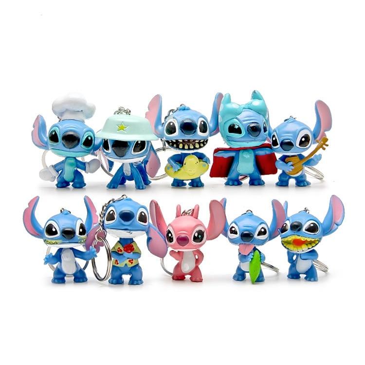 3pcs Mini Anime Cartoon Lilo & Stitch Mini PVC Action Figure Toys Dolls Child Toys Gifts