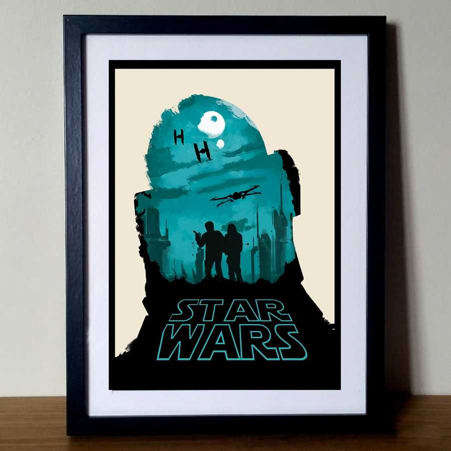 Star wars r2d2 poster art canvas print classic movie star wars canvas art painting wall pictures home wall decor