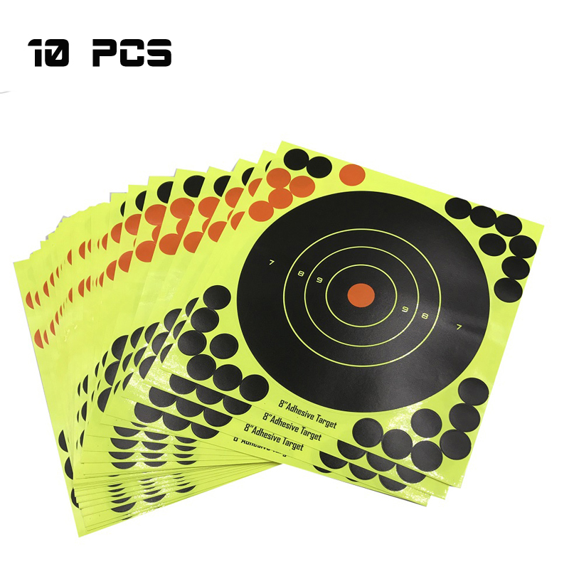 Image 2 - 20PC Splash flower Target 8Inch Adhesive Reactivity Target Shooting Aim Gun/Rifle/Pistol Binders Used for Hunting Archery Target-in Paintball Accessories from Sports & Entertainment