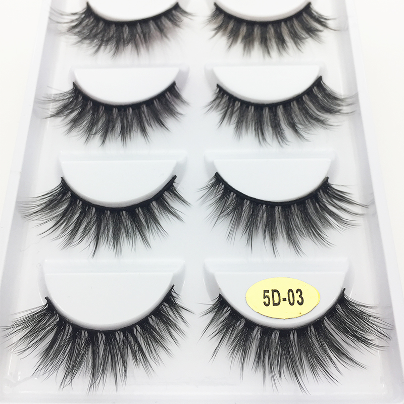 be8ade373db 5 Pairs Multipack 3D Soft Mink Hair False Eyelashes Handmade Wispy Fluffy  Long Lashes Natural Eye Makeup Tools Faux Eye Lashes