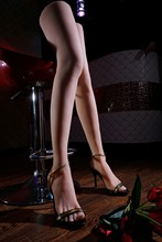Silicone pussy fetish girl fake foot,long leg Inner-Bone Inside,Toe Move Freely,Feet/Shoe Model 68 cm