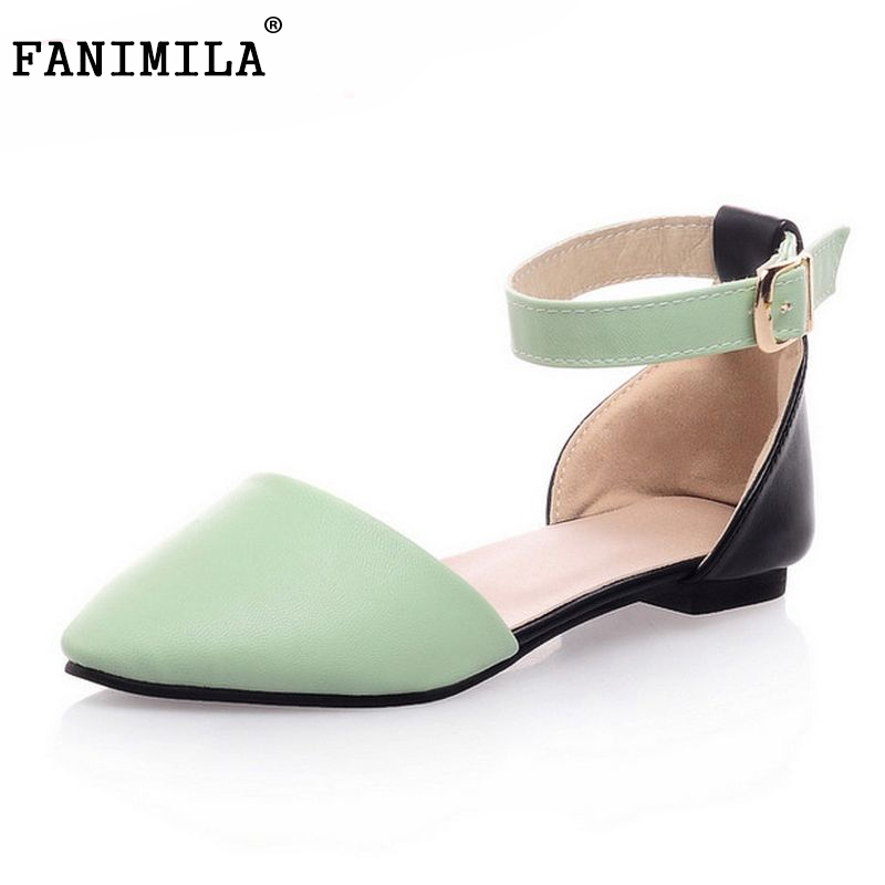 Women Flat Sandals Fashion Ladies Pointed Toe Flats Shoes Womens High Quality Ankle Strap Shoes Leisure Shoes Size 34-43 PA00290 new 2015 fashion high quality lazy shoes women colorful flat shoes women s flats womens spring summer shoes size eu35 40wsh488
