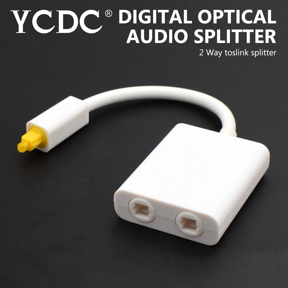 YCDC Digital Optical Fiber SPDIF Audio Cable Splitter Connector Toslink 1 Male to 2 Female 1X2 1 to 2 Splitter Adapter Black цена и фото