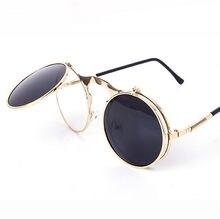 Sunglasses round Designer steam punk Metal OCULOS de sol women COATING SUNGLASSES Men Retro CIRCLE SUN GLASSES стоимость