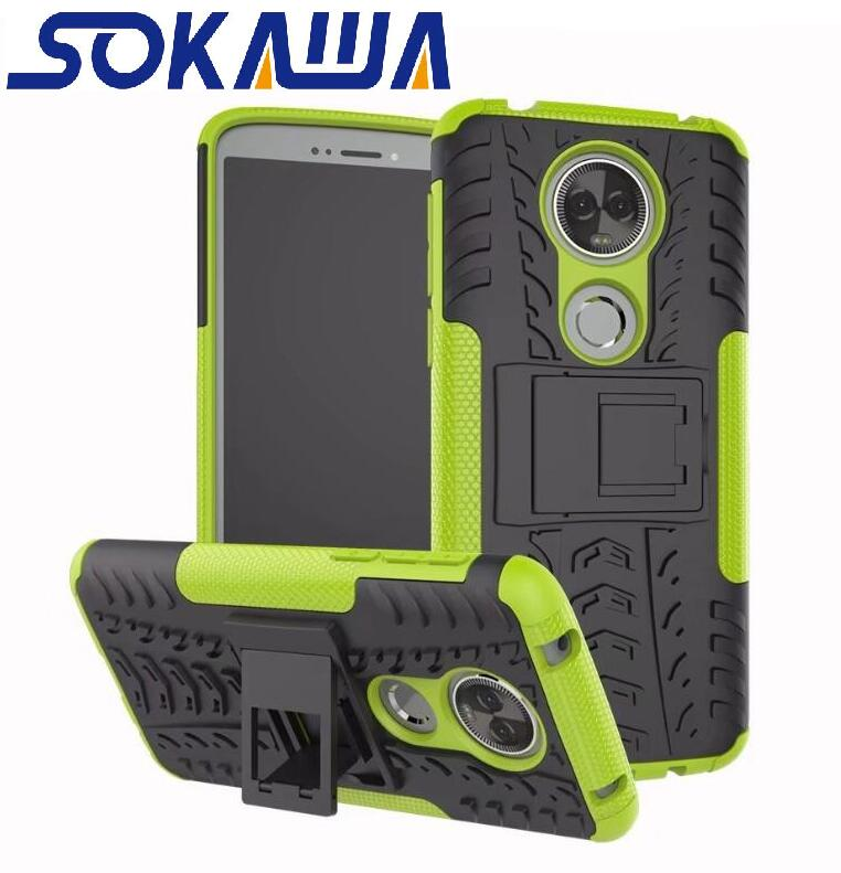 Armor Hybrid For Moto G6 Play Case TPU Skin Gel Heavy Duty Protection Kickstand Shell Hard Cover