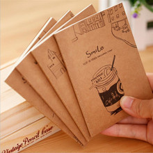 16sheet retro kraft paper notepad 64K small book Soft Copybook Daily Memos Kraft Cover Journal Notebooks wholesale 1pcs extra thick spiral ring binder business office notebook fashion retro personality kraft paper daily memos notepad