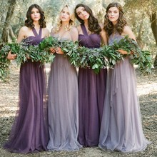 Silver 2017 A-line Halter Floor Length Tulle Backless Long Bridesmaid Dresses Cheap Under 50 Wedding Party Dresses