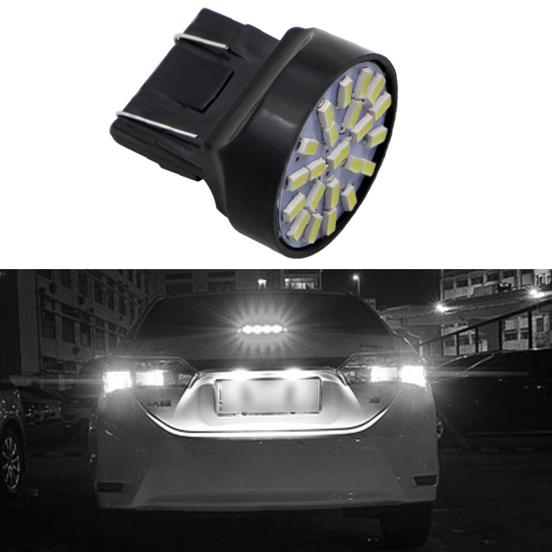 1X 12V <font><b>T20</b></font> <font><b>W21</b></font>/<font><b>5W</b></font> auto Car styling lighting 7443 22 LEDS SMD 3020 1206 brake parking lignt Xenon white Car accessories image