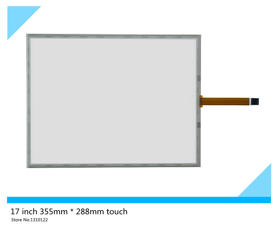ФОТО 17 inch 5 wire 355mm*288mm Resistive Touch Screen Digitizer for cash register queuing machine Display;Industrial equipment