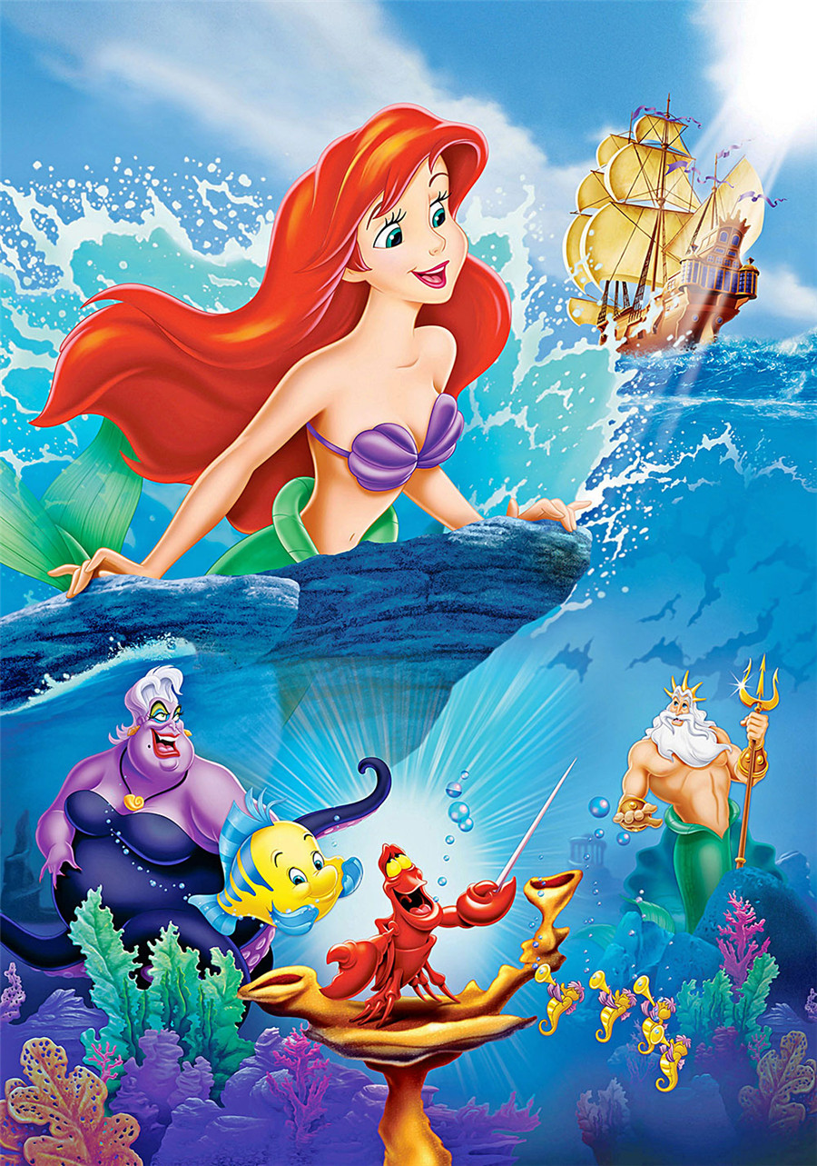 5D Diamond Painting Ariel /& Eric The Little Mermaid