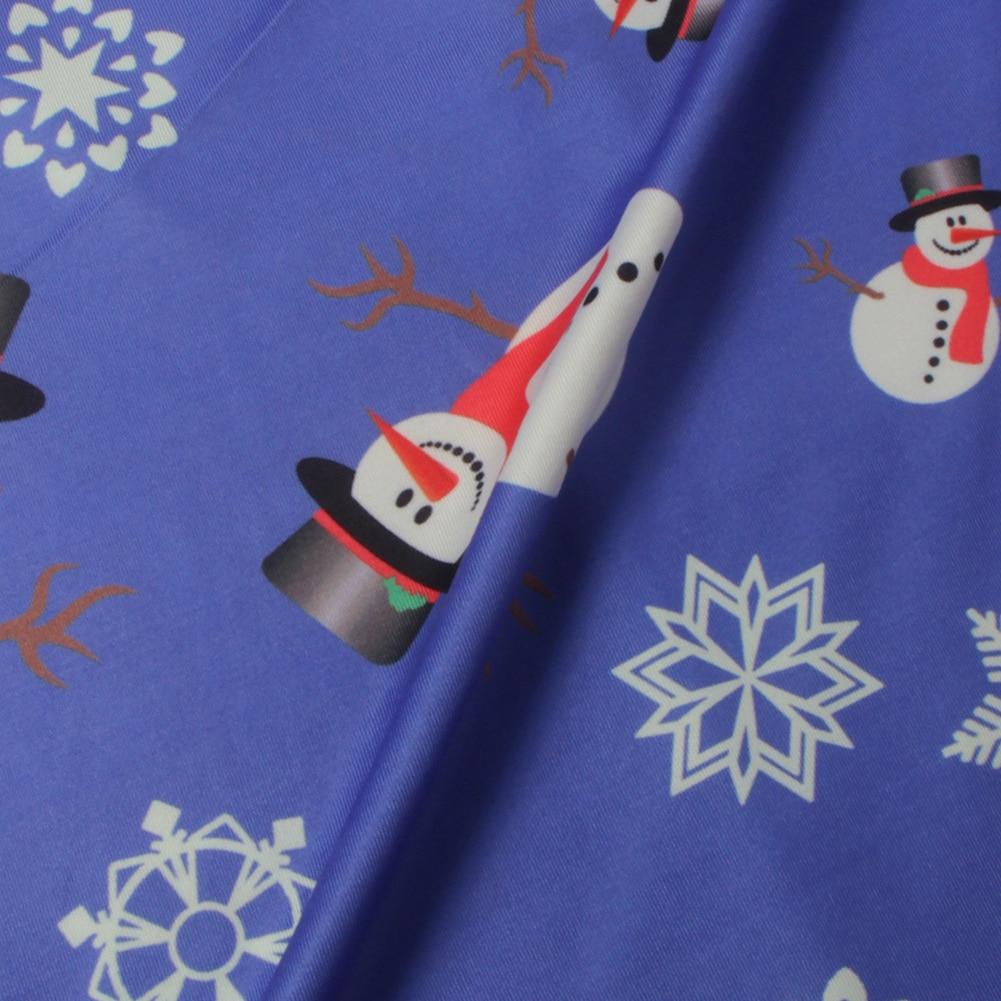 55716eefb50567 Hoge Kwaliteit Jurk Modellen Kerst Sneeuwpop Snowflake Gedrukt Lange ...