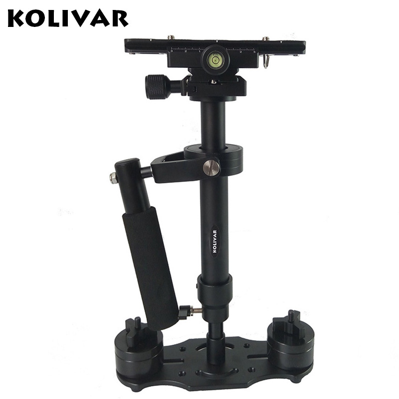 Prix pour Kolivar s40 40 cm mini professionnel de poche en aluminium steadicam stabilisateur pour canon nikon sony dslr camera vidéo dv steadycam