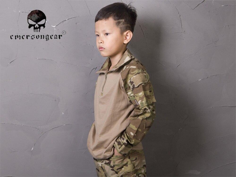 Emerson Combat Shirt Pants Suit For 6Y-14Y Children Tactical bdu Kids Uniform