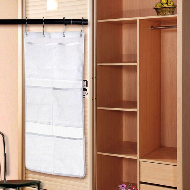 Attractive Mesh Bathroom Bath Shower Organizer Hanging 6 Pocket Hanger Storage Caddy 4  Hook