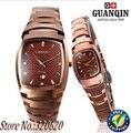 Original GUANQIN relojes de tungsteno zafiro resistente al agua reloj de cuarzo hombres de lujo y women-GQ30005