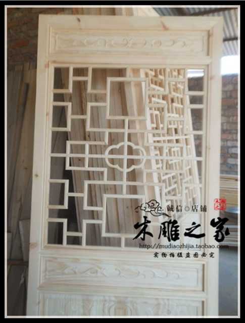 Dongyang wood carving wood made of antique Chinese style doors and Windows  partition lattice entrance TV background wall elm - Online Shop Dongyang Wood Carving Wood Made Of Antique Chinese Style