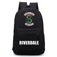 Riverdale Women Backpack Solid Schoolbag Male Laptop Men 2018