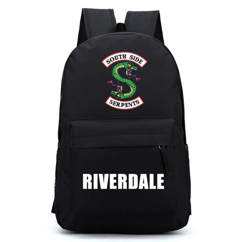 Riverdale Women Backpack Solid Schoolbag Backpack Male Solid Schoolbag Laptop Men 2018