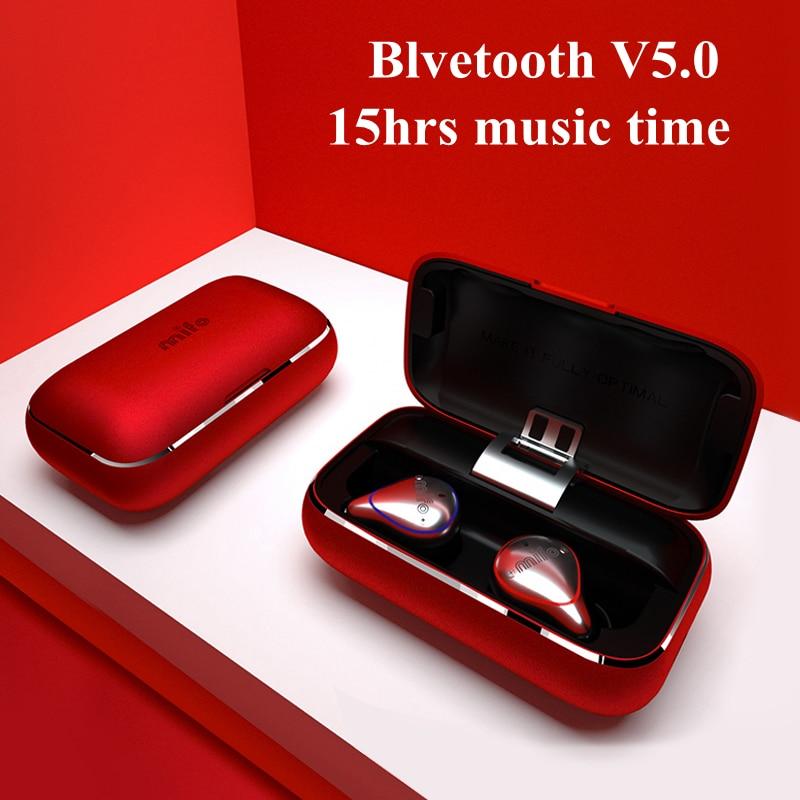 СПЦ Беспроводной наушники IPX7 Водонепроницаемый Bluetooth наушники мини невидимый Беспроводной стерео наушники с микрофоном звонки Hands